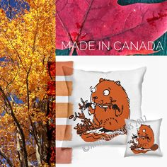 For a touch of cute Canadiana. Two sizes or with a pocket across the back. Cotton front and choice of linen or wool on the back. Each back pocket features a red embroidered maple leaf. Cushion Covers, Pillow Covers, Pure White Background, Hidden Spaces, Large Cushions, Hiding Spots, Blue Highlights, Pillow Forms, Tooth Fairy