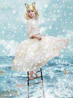 Wonderful Ice Princess girls look from NORO for winter 2015