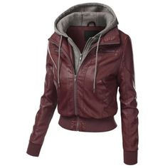 Chic Hooded Long Sleeve Faux Twinset Pocket Design Women's Jacket ($29) ❤ liked on Polyvore featuring outerwear, jackets, long sleeve jacket, hooded jacket, faux hooded jacket and faux jacket