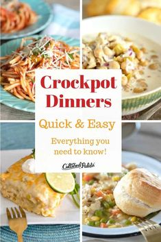 Easy Crockpot Meals are perfect for dinner and are the reason that I love crockpot cooking! Quick easy crockpot dinners are super easy. Quick Crockpot Meals, Easy Crockpot Chicken, No Cook Meals, Slow Cooker Recipes, Crockpot Recipes, Easy Meals, Quick Easy Dinner, How To Cook Potatoes, Crock Pot Cooking