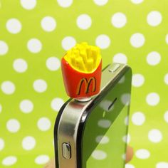 Cute Red McDonald French Chips Fries Anti Dust Plug 3.5mm Phone Accessory Charm Headphone Jack Earphone Cap iPhone 4 4S 5 iPad HTC Samsung on Etsy, $2.98
