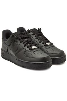 Nike Air Force 1 Low-top Sneakers In 038 Black Cute Shoes For Teens, Cute Nike Shoes, Black Nike Shoes, Nike Shoes Outfits, Nike Air Force Noir, Nike Air Force Black, Nike Air Force 1 Outfit, Nike Shoes Air Force, Nike Air Max