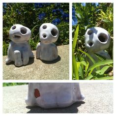 """I created Myazaki """"princess monenoke"""" clicking spirits out of clay! Im siked how they turned out! I even made sure to add their cute butts! -sophie"""