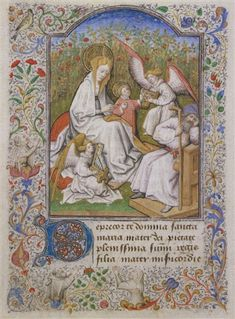 The Holy Family in a Meadow - The Coëtivy Book of Hours - Bedford Master and Coëtivy Master, c. 1443, Paris, France. Dublin, Chester Beatty Library, W 82, f. 228