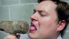 """After Dan Stewart finished last in his fantasy football league, he had to star in his own version of Miley Cyrus' 2013 hit """"Wrecking Ball."""