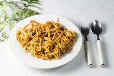 pumpkin noodles with pesto