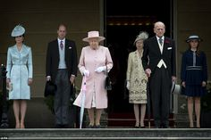 Tuesday saw the royal family gather for the first of the Queen's garden parties attended b...