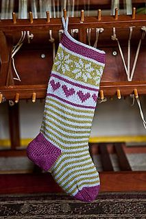 Holly Berry Stocking by Kate Gagnon Osborn