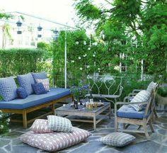 Backyard sitting