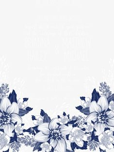 Vector blue flowers invitations, Blue Flowers, Flowers, Wedding Invitations PNG and Vector Wedding Invitation Background, Flower Invitation, Wedding Invitations, Flower Background Wallpaper, Flower Backgrounds, Wallpaper Backgrounds, Frame Floral, Flower Frame, Page Borders Design