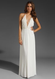 FOR LOVE & LEMONS Camillia Maxi in Ivory at Revolve Clothing - Free Shipping!    $180. so. pretty