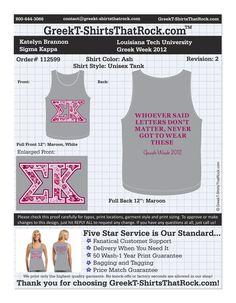 Sigma Kappa Greek Week http://www.greekt-shirtsthatrock.com/