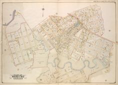 Map of Ward 2, Corona Park, Queens (1908 updated to 1912)