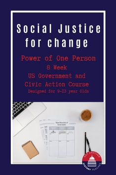 Want your child to learn about US civics and social justice? Want them to be more politically engaged in our system of government?In this eight-week course, students will learn about the US government and how you can be an advocate for social change! Within each lesson, students will gain the knowledge and understanding of the inter-workings of each branch, and how they can influence each other and the Nation as a whole.