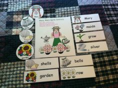"""Mary Quite Contrary"" Flannel Board Rhyme, Props & Vocabulary Cards~ Laminated with Thermal Lamination for Durability...eBay  Only $5.00 in My Store!"