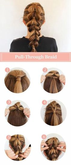 French Pull-Through Braid Tutorial by geneva