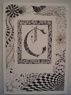 Illuminated Letter C