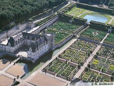 Château de Villandry located in Villandry, in the département of Indre-et-Loire, France.The gardens of this chateau are gorgeous.