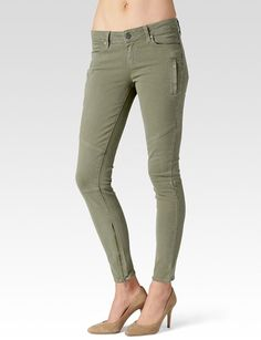 Paige Denim Womens Marley Pant | Fatigue Green | Size 29