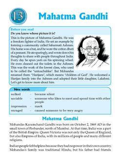 A Short Biography Of Mahatma Gandhi In English Language - Vision specialist! English Speaking Skills, English Teaching Materials, English Writing Skills, English Reading, English Lessons, English Vocabulary, Teaching English, Learn English, Ielts Reading