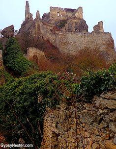 Kuenringer Castle in Durnstein, Austria in the Wachau Valley - See more: http://www.gypsynester.com/wachau.htm  #travel #austria