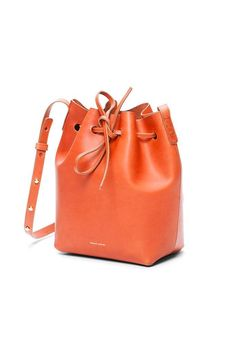 Mansur Gavriel Vegetable-Tanned Leather Bucket Bag, Gold- $65/Week