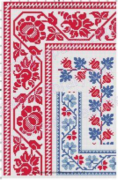 Gallery.ru / Фото #2 - Kreuzstich-Muster Fur Leinenstickerei - gabbach Polish Embroidery, Folk Embroidery, Embroidery Patterns Free, Cross Stitch Embroidery, Crochet Patterns, Cross Stitch Borders, Cross Stitch Flowers, Cross Stitch Patterns, Russian Cross Stitch