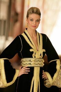 Black and Gold Caftan
