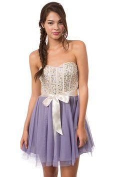 Teeze Me | Indigo Strapless Glitter Ombre Petal Cocktail Dress ...