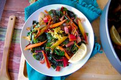 Rainbow Chard and Carrot Hash - Real Food with Dana Chard Recipes, Paleo Recipes, Real Food Recipes, Pescatarian Recipes, Yummy Food, Pumpkin Dessert, Paleo Dessert, Rainbow Chard, Hash Recipe
