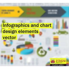 #Graphic - #Infographics and chart #design elements #vector set - Zizaza item