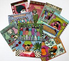Kunstpostkartenset / 10 Stück von mARTina haussmann auf DaWanda.com