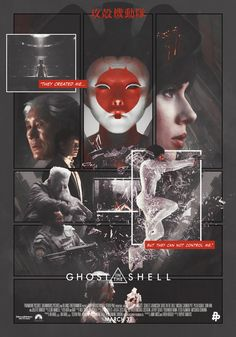 """""""Ghost In The Shell"""" - Poster Posse Passion Project on Behance Punk Poster, Movie Co, Drag, Passion Project, Alternative Movie Posters, Cyberpunk Art, Ghost In The Shell, Cultura Pop, Concept Art"""