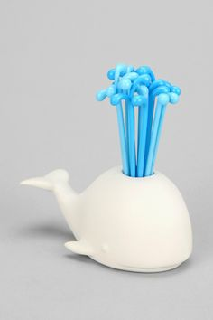 Whale Toothpick Holder - adorable! wonder if the toothpicks are reusable?