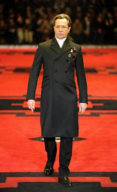 Prada Fall 2012 Menswear Collection | Tom & Lorenzo Gary Oldman looks commanding in this coat.