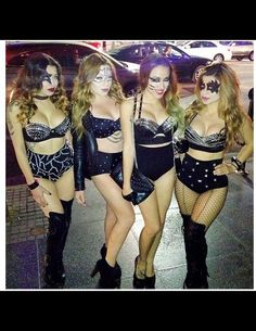 Two-Week Notice: How to Feel Fit For Halloween Night disfraces halloween ideas Girl Group Halloween Costumes, Halloween Costume Contest, Halloween Kostüm, Halloween Couples, Homemade Halloween, Family Halloween, Belle Lingerie, Raves, Group Costumes Ideas
