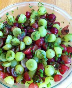Grape salsa, grape salad...use some plantain chips to dip with! Paleo side or paleo appetizer!