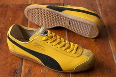 PUMA Yellow Star During the 1970's and 80's when PUMA were introducing a large amount of new models to the market, they named plenty of these shoes after the colours used. It came as no surprise that the names applied to shoes in specific colourways and were never made in others bearing the same name. With other models such as the Blue Star and Red Star, they also made the Yellow Star.