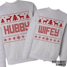 Womens Reindeer Printed Ugly Christmas Pullover Crew Neck ...