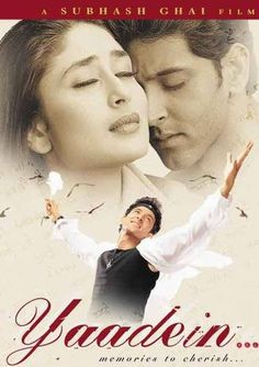 Yaadein/Memories 2001 (**) Young lovers Isha (Kareena Kapoor) and Ronit (Hrithik. Bollywood Posters, Bollywood Actors, Best Bollywood Movies, Kareena Kapoor Movies, Movie Info, Beautiful Love Stories, Romance Movies, Indian Movies, Video Film