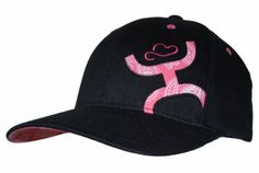 HOOey Cap ~ FlexFit hat with pink bandana fabric HOOey logo inlaid on front left of cap. Matching bandana fabric on underbill. HOOey vertical logo stitched on back in pink. Frontier Western Shop.