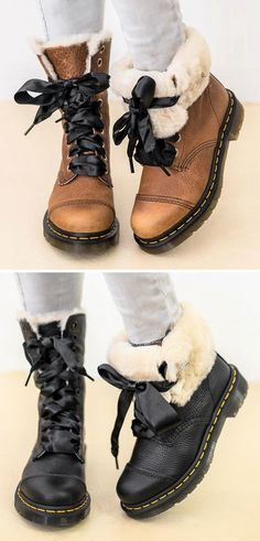 e55e35aebde5 Womens Lace-Up Winter Low Heel Casual Combat Snow Boots