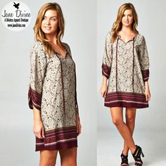 Fall Fashion, Winter Fashion, Holiday Outfit, Printed Dresses, Damask In A Dress, by Jane Divine Boutique www.janedivine.com #janedivine