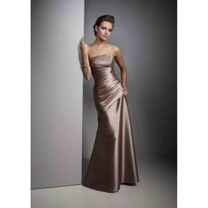 Brown Prom Dresses, Floor Length Bridesmaid Dresses, Dresses For Prom Taffeta Bridesmaid Dress, Strapless Dress Formal, Dress Prom, Bridesmaid Color, Party Dress, Wedding Bridesmaids, Bronze Bridesmaid Dresses, Taffeta Dress, Bridesmaid Ideas