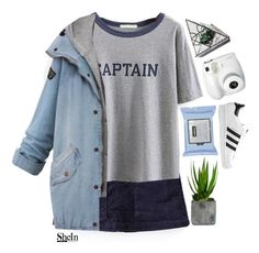 """""""#SheIn"""" by credentovideos ❤ liked on Polyvore featuring Laura Ashley and adidas Originals"""