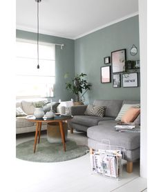 spontane Umräumaktion im Wohnzimmer - Diy Wohnzimmer - Déco maison - Living Room Green, Living Room Colors, Home Living Room, Interior Design Living Room, Living Room Designs, Living Room Decor, Nordic Interior Design, Teal Living Rooms, Living Room Paint