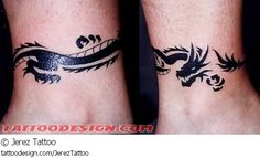 A tattoo design picture by Jerez Tattoo: arm,bands,armbands,tribal,fantasy,dragon,dragons