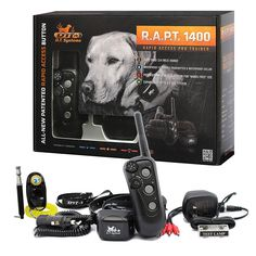 D.T. Systems - R.A.P.T 1400 Series Remote Control Dog Training Electric Shock Collar System with PetsTEK Clicker and Whistle Training Kit -- Learn more by visiting the image link. (This is an affiliate link and I receive a commission for the sales) #PetDogs
