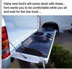 though, Chevrolet has had this feature for tow trucks to get to them for years lol it's called onstar. Try again Chevy fans. Truck Memes, Truck Quotes, Car Memes, Funny Memes, Truck Humor, Funny Quotes, Puns Jokes, Chevy Jokes, Ford Jokes