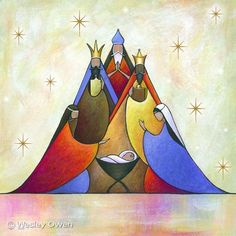 Three Wise Men Christmas Greeting Card Nativity - how wonderful. Oh Come Let Us Adore HIM. Christmas Images, Christmas Art, Christmas Projects, All Things Christmas, Vintage Christmas, Christmas Holidays, Christmas Decorations, Christmas Ornaments, Christmas Nativity Scene